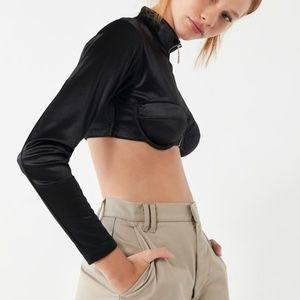 Out From Under Tops - Out From Under Ooh Baby Baby Long Sleeve Bra Top